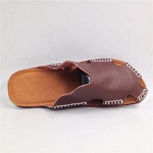 8c338db3ee22e New Arrival Summer Cool Leather Breathable Men Flip Flops Korean Style Male  Slipper Non-slide