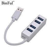 נייד מחברת מחברת USB HUB 3.0 4 יציאת USB וגם הסלסילה העמוסה מפצל USB Micro Power Port עבור מחשב נייד אביזרים אלומיניום מעטפת USB 3.0 HUB (1)