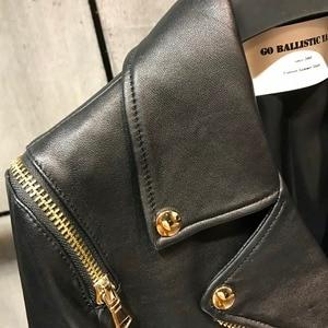 Image 3 - women quality genuine leather jacket fashion lady leather blazer plus size 5XL