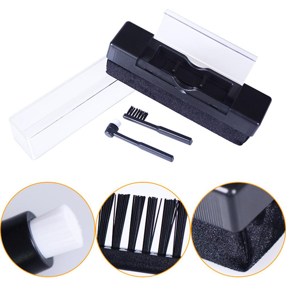 Vinyl Record Cleaning Kit Carbon Fiber Brush Audio Stylus Cleaner Dust Remover NEW