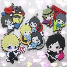 Anime Durarara 3way standoff figures DRRR ,Orihara Izaya figure phone strap/keychain pendant Phone Strap keyring De Llaveros