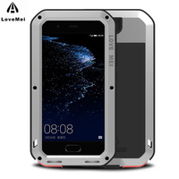 LOVE MEI Case For Huawei P10 Case Aluminum Metal ShockProof Luxury Heavy Phone Cases For Funda
