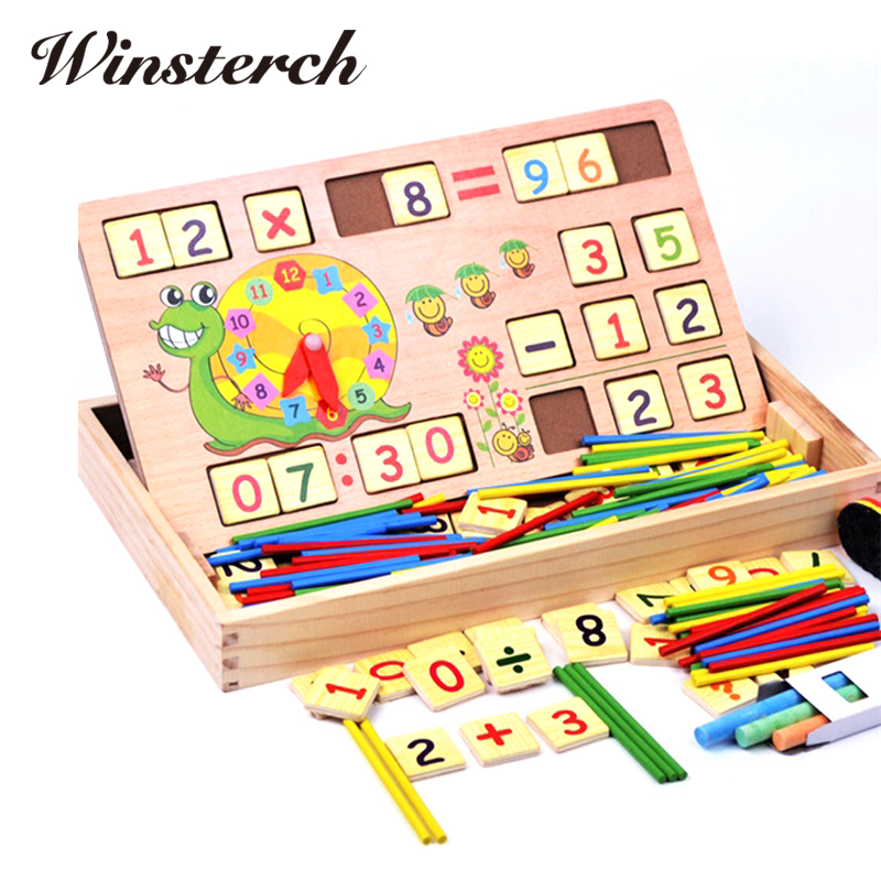 Wooden Jenga Game Educational Toys Children Digital Operation Mathematics Learning Puzzle Brain Training Digital Toys ZS027 baby kids children wooden toys alphabet number building jigsaw puzzle snake shape funny digital puzlzle game educational toys