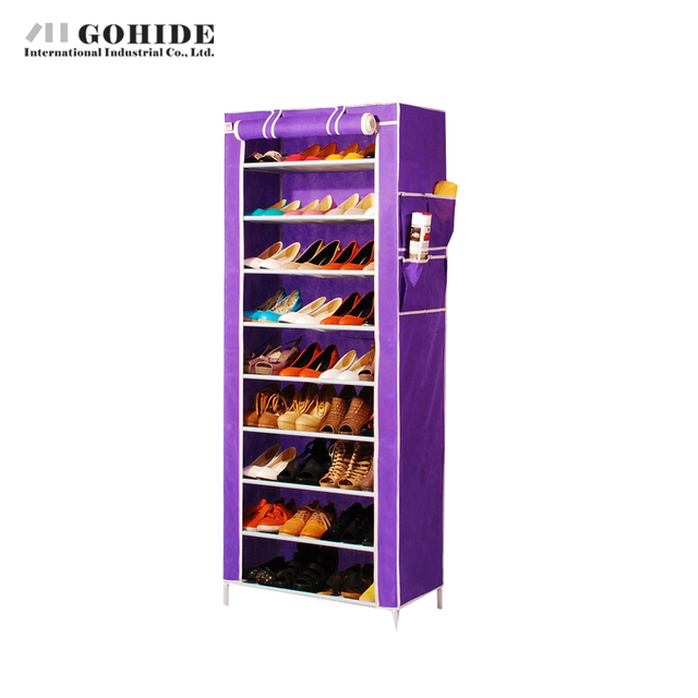 Gohide Home-Style Shoe Cabinet Shoes Racks Storage Large Simple Shoe Steel Pipe Cloth Cover The Shoe Racks