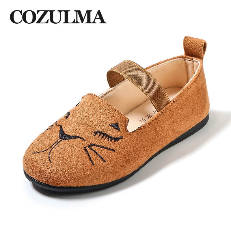 COZULMA 2018 New Spring Girls Causal Shoes Kids Sneakers Girls Mary Jane Shoes Cute Cat Toe Flat Princess Dress Party Shoes