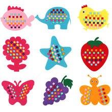 Montessori Teaching Aids Math Toys Kindergarten manual Diy Handmade Crafts Weave cloth Early Learning Education Toys