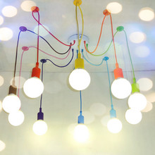 E27 Spider colored Pendant Lighting Childrens Room Bedroom Decorated Restaurant Cafe Clothing