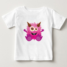 Girl kids Hot sale T- shirt 2018 monster printed children tshirts kids cartoon T shirt Round Neck boys cotton clothing tee  NN 2017 hot sale pokemon kids t shirt 100