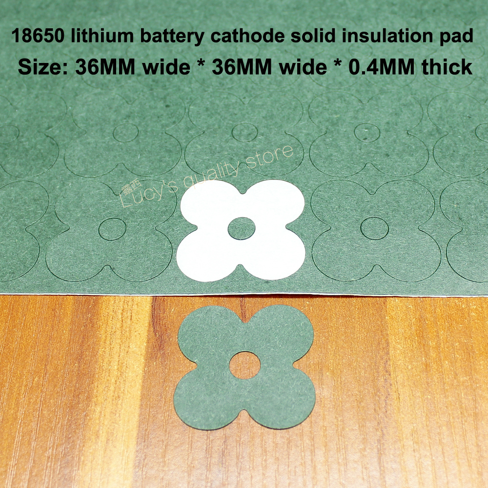 Купить с кэшбэком 100pcs/lot 18650 lithium battery DIY universal high temperature insulation gasket battery pack insulation sheet 4 face mat