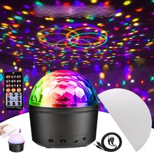 LED Disco Stage Light Portable Family Party Magic Ball Colorful Light Bar Club Bar Cabinet Lamp Bluetooth Speaker Disco Light