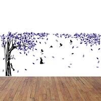 420*180 سنتيمتر الكبير شجرة زهرة الطيور الجدار ملصق ورق الحائط جدارية ل غرفة المعيشة الرئيسية الديكور pvc الفينيل ملصقا الفن