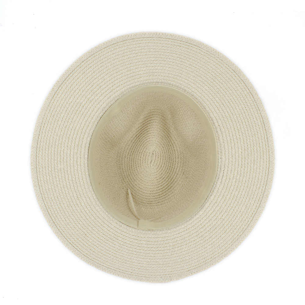 c0bd107407e ... Fashion Summer Women Toquilla Straw Panama Sun Hat For Elegant Lady  Queen Floppy Wide Brim Bobo