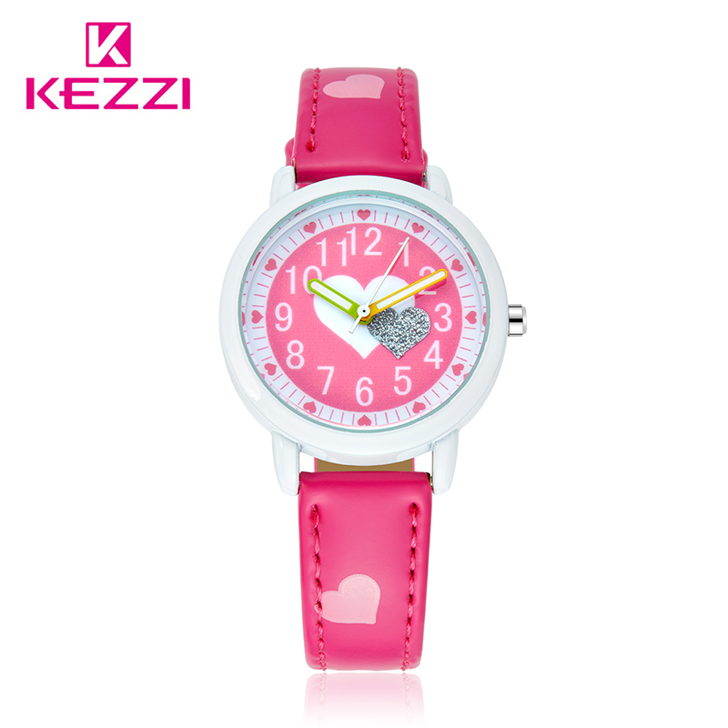 Kezzi Children Watch Kids Cartoon Leather Strap Watches Waterproof Quartz Wristwatch Fashion Girl Clock Infantil reloj