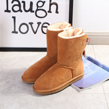 Begocool women snow boots for cheap australia warm winter boots designer shoes 100% genuine cow suede leather BE8002