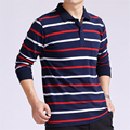 Hot Sale 2016 Casual Slim Polo Shirts Men Breathable Anti-Wrinkle Mens Polo Shirt Striped Men Long Sleeve Cotton Polo Wholesale