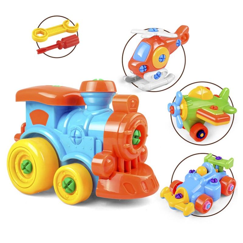 DIY Disassembling Plane Car Building Blocks Model Tool With Screwdriver Assembled Educational Toys For Children Kids @Z360 M09