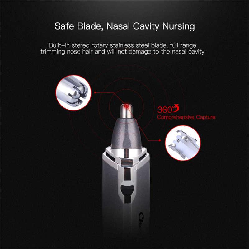 Naso elettrico Capelli Trimmer per Ear Nose Trimmer Uomini AA Batteria Naso Trimero Macchina di Rimozione Dei Capelli Sicuro Viso Care Rasatura 46