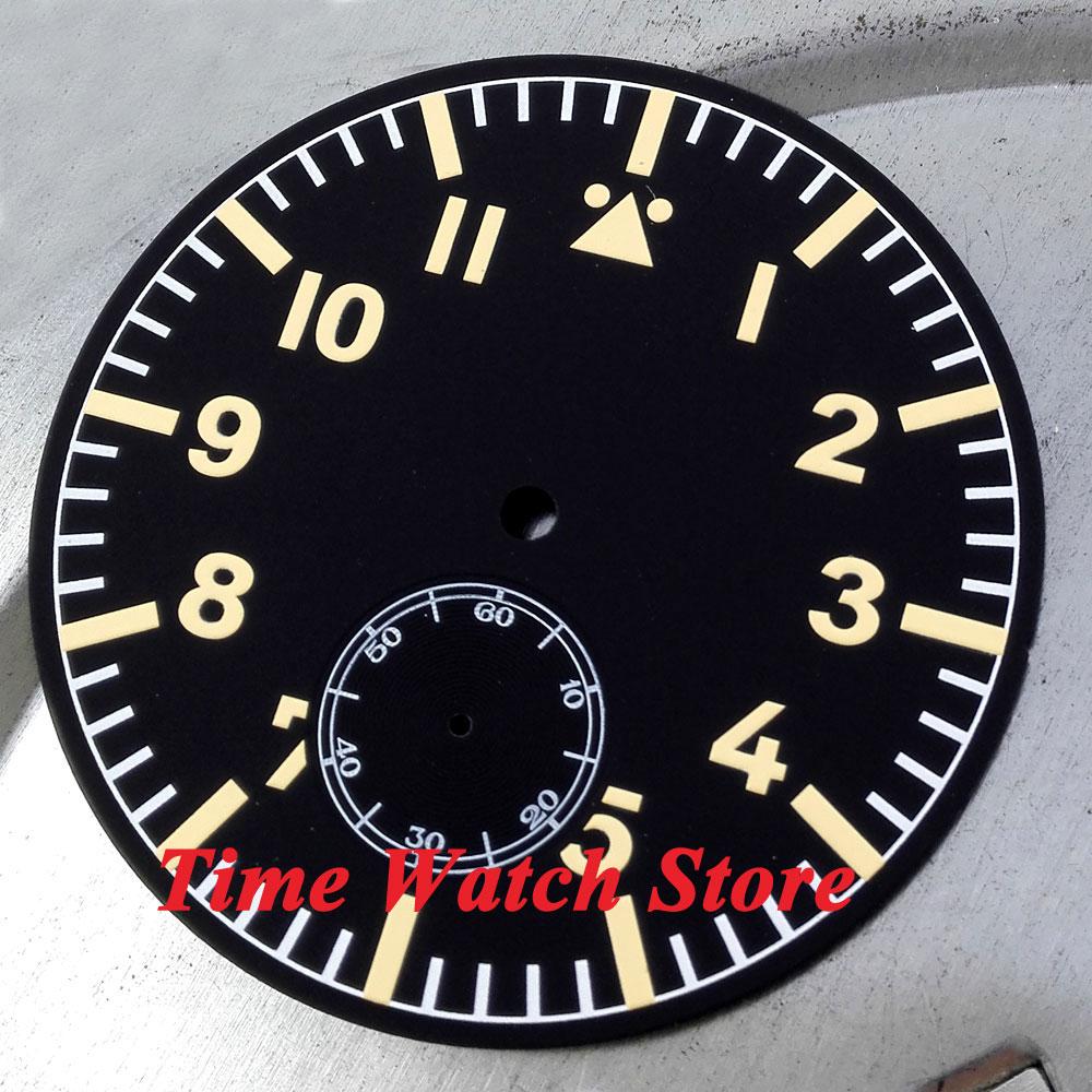Parnis 47.5mm black sterile Dial fit ETA 6498 movement luminous Watch Dial D15|watch dial|dial|dial watch - title=