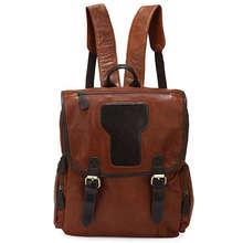 Maxdo Vintage Brown 100% Real Genuine Leather Women Backpacks For Girl Cowhide School Bags Travel Bag #M7060