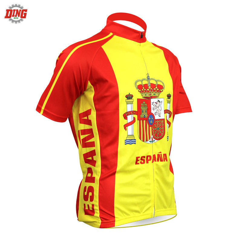 NEW spain cycling jersey men short sleeved Pro bike wear classical Espana Cycling clothing Jersey ciclismo clothes DING MIRA MTBNEW spain cycling jersey men short sleeved Pro bike wear classical Espana Cycling clothing Jersey ciclismo clothes DING MIRA MTB
