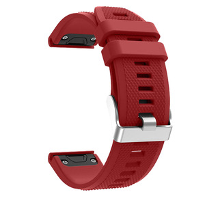 Image 3 - Sport Silicone Watchband Wriststrap for Garmin Fenix 6X 6 6S Pro 5X 5 5S Plus 3 3HR 20 22 26mm Easy Fit Quick Release wirstband