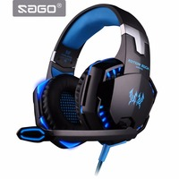 Sago G2000 Deep Bass Game Headphone Stereo Surrounded Over Ear Gaming Headset Headband Earphone With Light