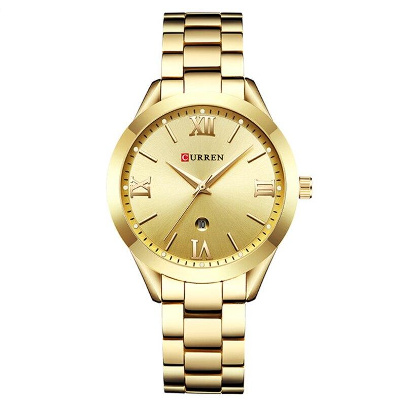 Women Gold Quartz Watches New Ladies Steel Watches Fashion Women's Bracelet Watches Female Clock Relogio Feminino Montre Femme