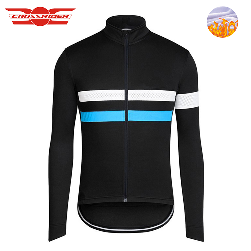 Crossrider 2018 Winter men cycling Jersey MTB clothing Thermal fleece shirt Bike wear clothe Long Maillot Roupa Ropa De Ciclismo цена