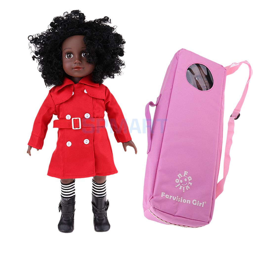 Vinyl 18inch African American Doll Modern Girl Doll Replaced for American Girl Our Generation Dolls - Birthday Christmas Gift designing a campus for african american females