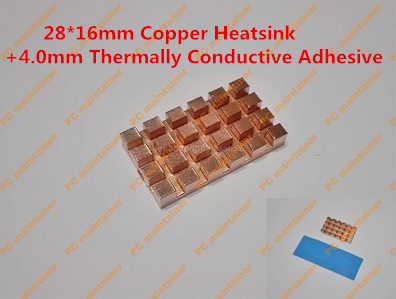 28 16mm Copper Heatsink 4 0mm Thermally Conductive Adhesive Copper MINI PCI E Interface laptop Wireless
