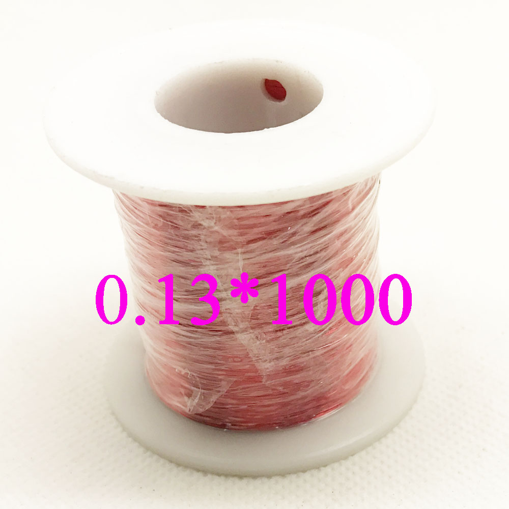 0.13 mm 1000m/ pc,500m/ pc QA-1-155 New Polyurethane Enameled Wire,Copper wire , Red 0 1mm 1000m pc length qa 1 155 polyurethane enameled wire copper wire enameled repair