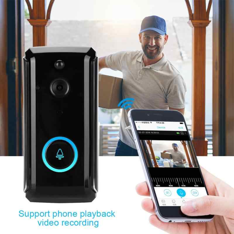 720 P Smart Bel Pintu Nirkabel Wifi HD Kamera Bel Pintu IR Terlihat Intercom Doorphone Deurbel Timbre Inalambrico