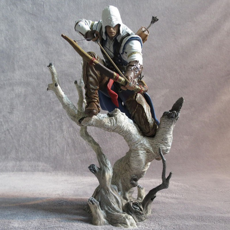 Free Shipping 10 Hot Game Assassin's Creed III Connor Hunter Ver. Boxed 26cm PVC Action Figure Collection Model Doll Toys Gift street fighter v chun li bigboystoys with light action figure game toys pvc action figure collection model toys kids for gift