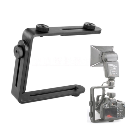 Wholesale camera flash bracket L bracket bilateral frame twin double L bracket L-bracket ws2790 bracket