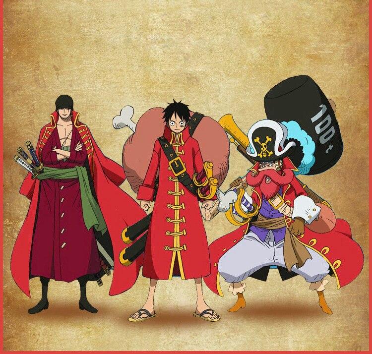 Nuevo anime de una pieza Cosplay mono D luffy Cosplay traje manto rojo  sombrero de paja pirata capitán Cosplay abrigo CM238 fd41dad04c4