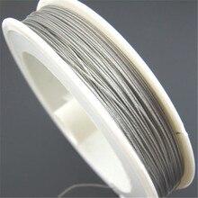 Doreenbeads 1 рулон 50 м Серебряный тон Бисер Провода ювелирный тросик 0.35 мм(B01402), иу
