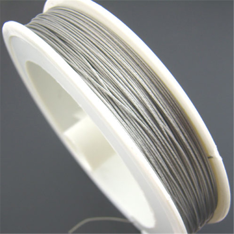 DoreenBeads 1Roll 50M Silver Tone Beading Wire 0.35mm (B01402), yiwu