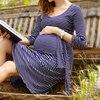 Elegant Maternity Clothes For Pregnant Women Tencel Nursing Dress Maternity Feeding Clothing Maternity Dresses For Photo
