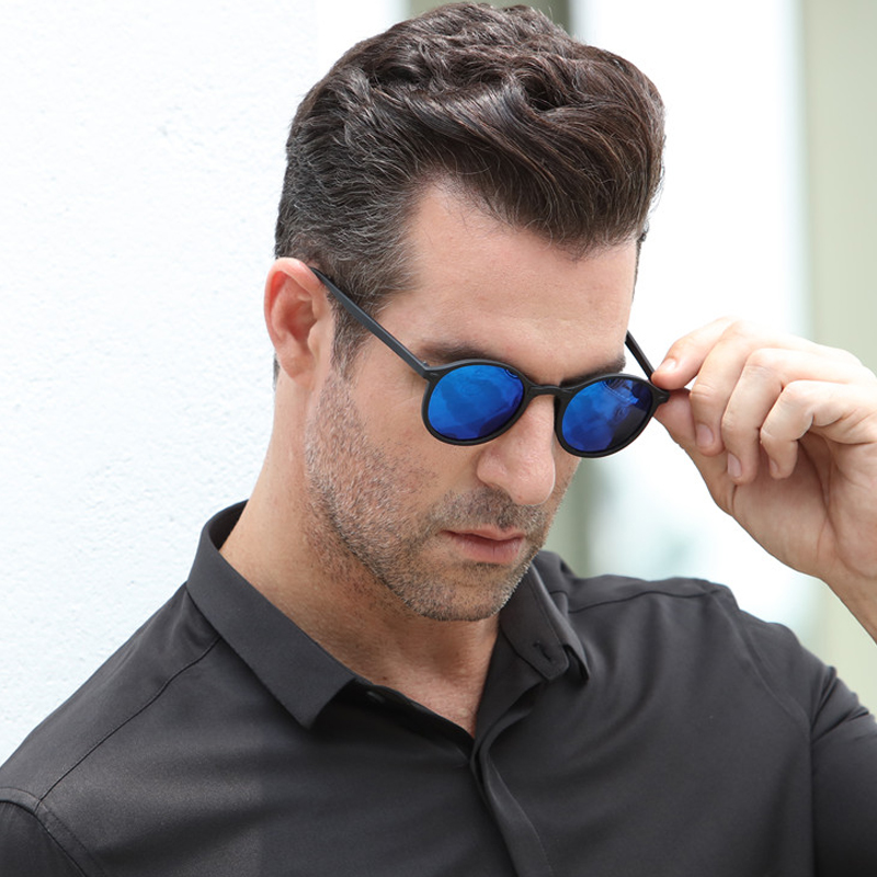 e6cffe6ce2ce Long Keeper Vintage Women Men Polarized Sunglasses Round Retro Rivet Frame Sun  Glasses Men Goggle Eyewear UV400 ...
