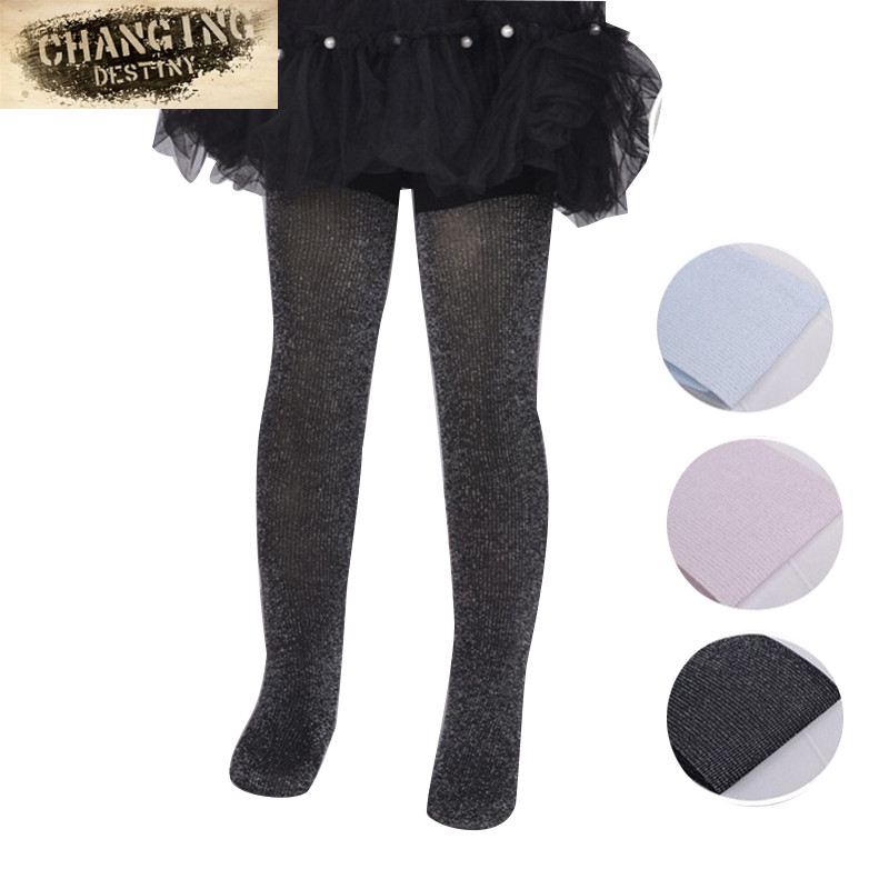 56ee2d452b3de The New Spring and Summer Children Anti Snag Socks Silver Pantyhose Girls  Fashion Bright Silk Backing