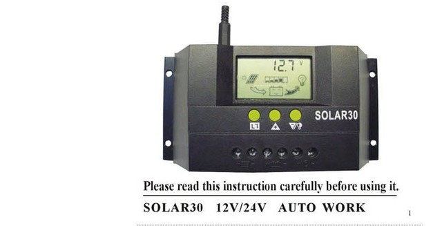 30A 12V/24V Auto Switch Solar Controller Regulator Charge Battery Safe Protection Wholesale charge controller