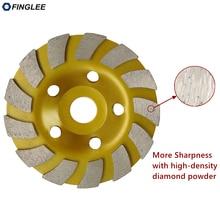цена на FINGLEE 4inch/5inch Inner 22.23mm Diamond Wheel Disc Bowl Grinding Cup Concrete Granite Marble Polishing Pads Masonry Tools