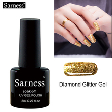 Sarness Diamond Glitter Platinum Soak Off Gel Nail Polish Varnish Nails Gel Professional UV LED Gel Lacquer Shining Fingernails