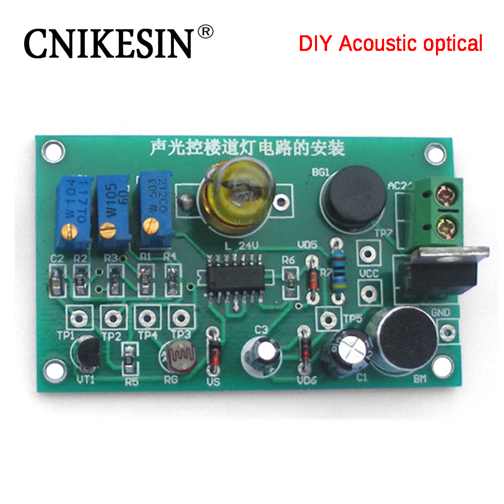 CNIKESIN DIY Electronics Sound Control LED Melody Lamp Electronic ...