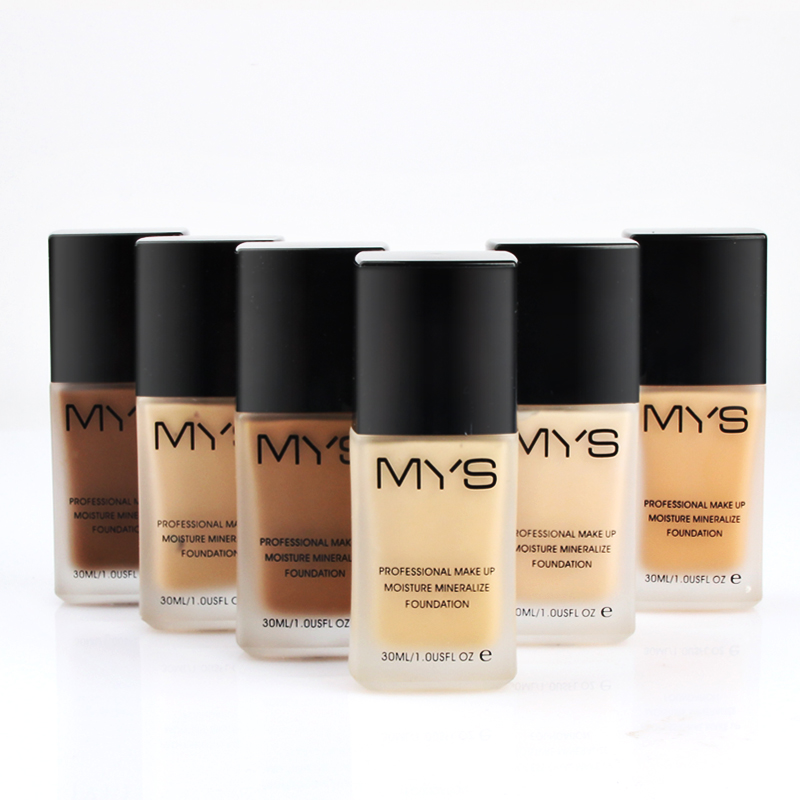 New Brand MYS Makeup Base Face Liquid Foundation BB Cream Concealer Whitening Moisturizer Oil-control Waterproof Maquiagem henlics organic plant essential oil cc cream face makeup liquid foundation concealer with moisturizer oil control function