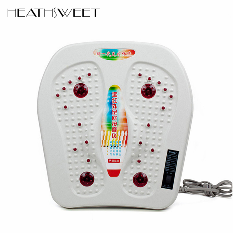 Healthsweet Physical Infrared Reflexology Foot Massager Electric Machine Automatic Roller Feet Vibration Magnetic Therapy SPA green foot reflexology electric vibrating foot massage infrared heat therapy body relax blood circulation warm feet massager