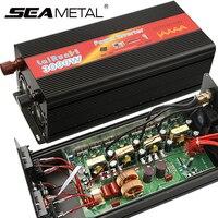 Автомобильный инвертор 12 в 2000 Вт 3000 24 В 220 В чистый инверторы синусоидального напряжения Преобразователь мощности 12 24 2000 3000 DC 12 В к AC 220 В инве