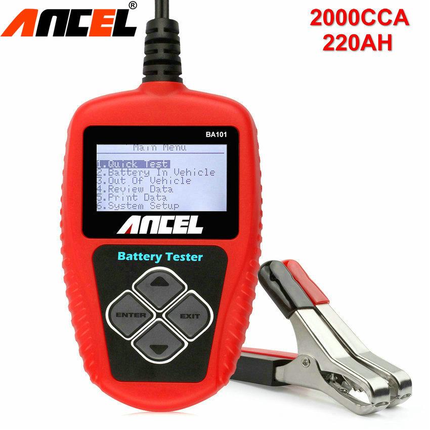 Prix pour Auto Testeur de Batterie Ancel BA101 Batterie De Voiture Testeur 12 V Automobile Véhicule BA101 Batterie Analyseur 100-2000CCA 220Ah Scanner Outils