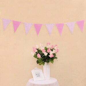 Image 5 - 12 флагов, 18 см, гирлянды из розового золота, флажки баннеры на день рождения, украшения для детской вечеринки