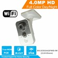HiK DS-2CD2442FWD-IW New MINI 4MP IR Cube Wireless Camera POE IP Camera WIFI Built-in microphone DWDR & 3D DNR & BLC OEM Camera